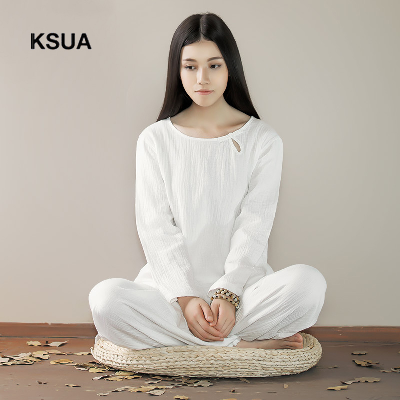 Loose Yoga Sportswear Set Linen Yoga Shirt Pants Zen Meditation Clothing Tracksuit Woman Large Size Gym Sport Suit Shirt Pants картридж t2 ar 016t lt tc sh016