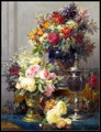 Набор для вышивки крестиком DMC  рукоделие для рукоделия  Французский DMC  высокое качество  14 ct  картина маслом  натюрморт  цветы 3