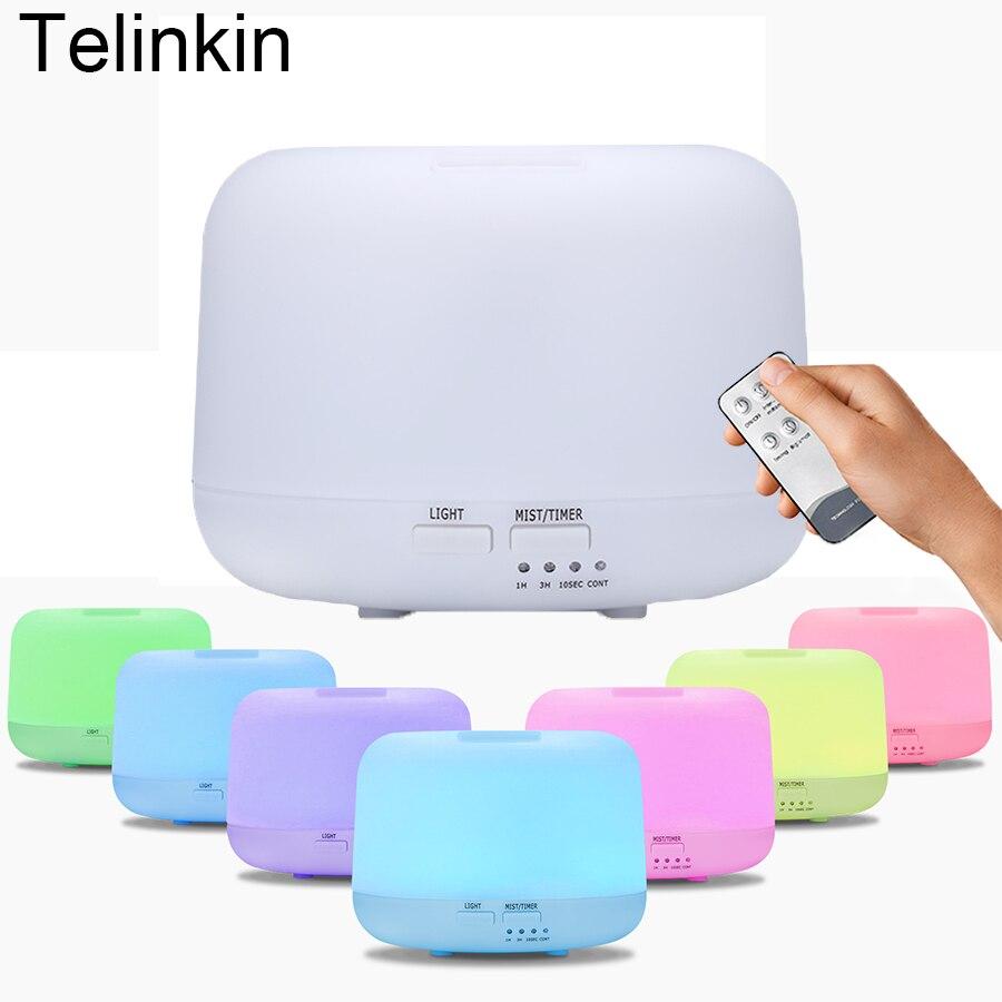 300 ml Mini Aroma diffuser Fernbedienung Elektrische Ultraschall öl diffusor nebelhersteller mit 7 Farbe leuchtet Sicherheits Luftbefeuchter