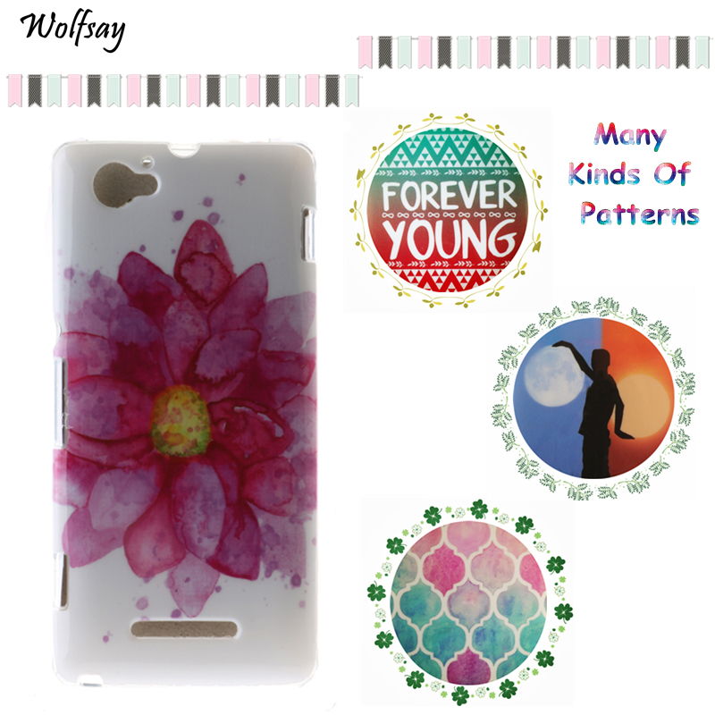 669afa6669b Wolfsay For Phone Case Sony Xperia M C1905 C1904 C2004 C2005 IMD Painting  Design Gel Back Phone Cover For Sony Xperia M Case