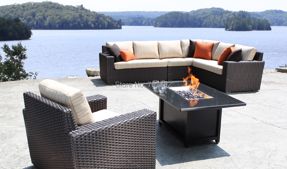 Superb 2017 New Furniture Outdoor Haven Sectional Wicker Patio Sofa Furniture Set