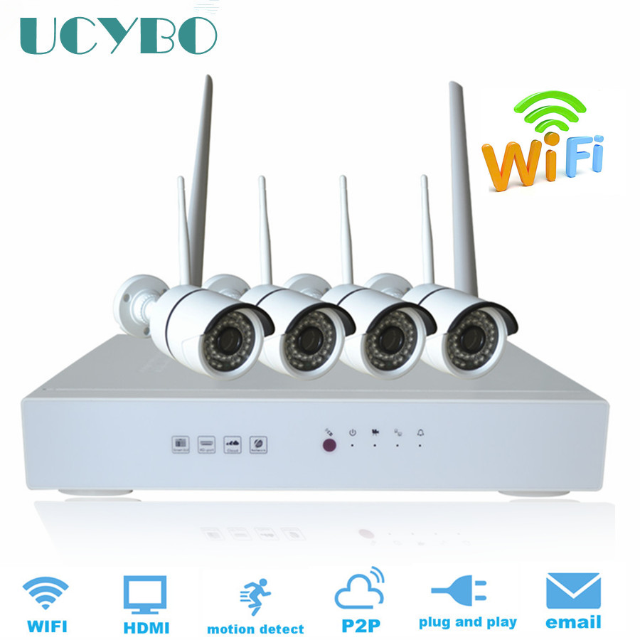 Wireless cctv system 1080P HD security ip camera WIFI outdoor IR night vision plug play 4CH home surveillance NVR Kits 1TB HDD plug and play 4ch 960p wifi nvr kit wireless cctv onvif ip camera system outdoor ir night vision security surveillance for home
