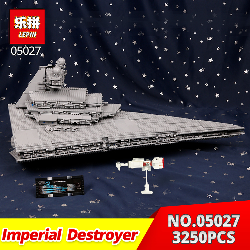 Lepin Star War 2016 blocks Imperial Star Destroyer 05027 3250Pcs Model Building Kits Blocks Bricks Toy Gifts Compatible 10030 lepin 22001 pirate ship imperial warships model building block briks toys gift 1717pcs compatible legoed 10210