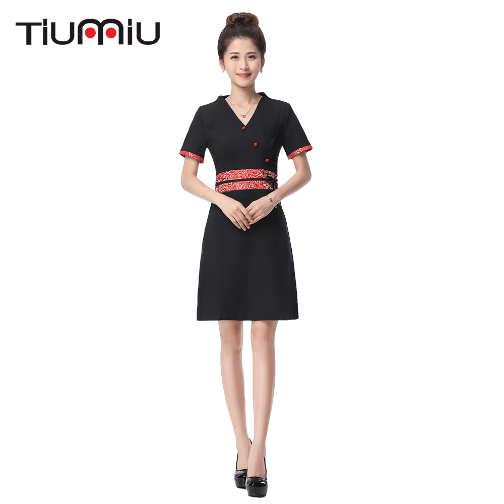 2018 New Arrival Hotel Uniform Lab Dress Women Short Sleeved Medical Uniforms Attire Beauty Salon SPA Fashion Work Wear Clothing