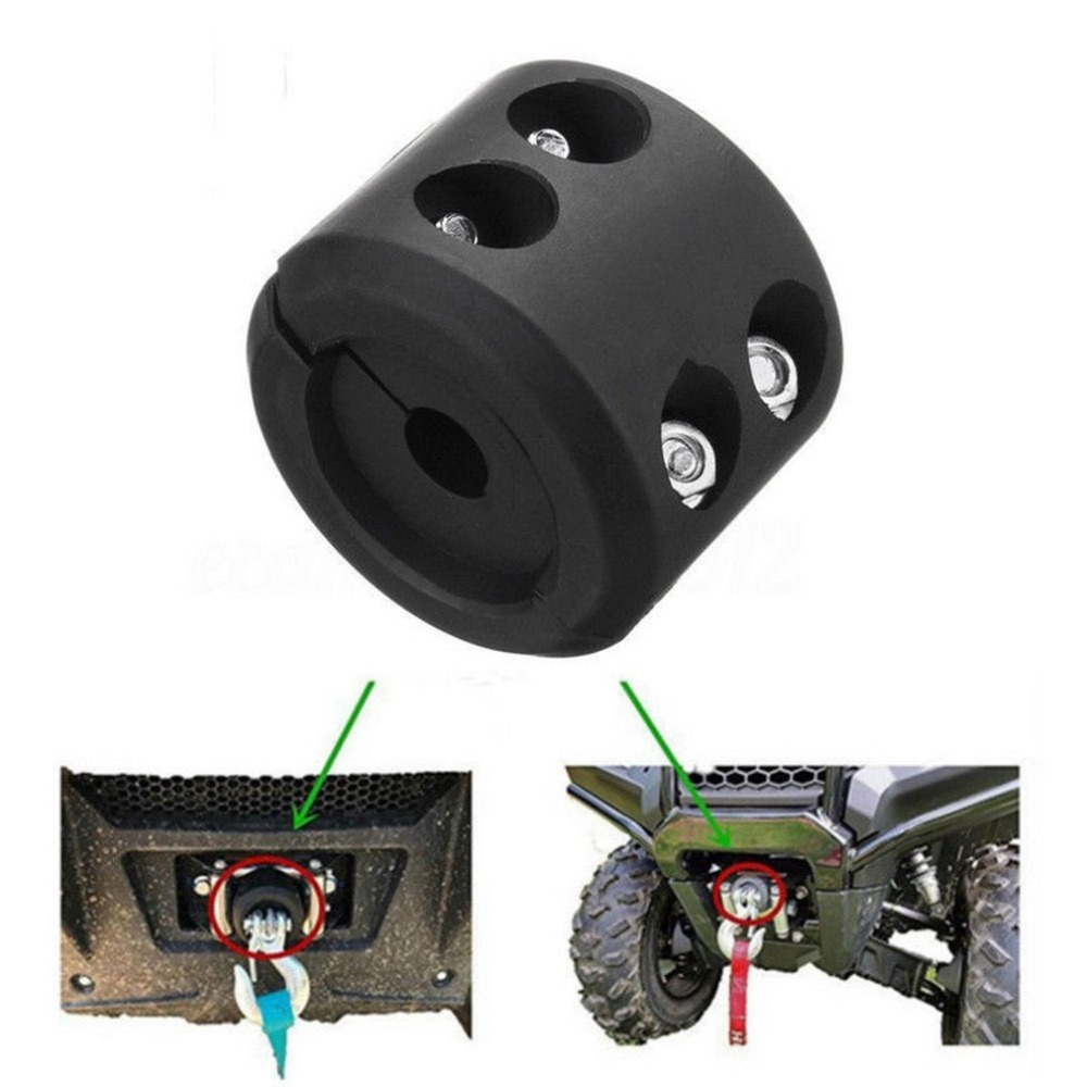 ATV UTV Winch Cable Hook Mount Stop Stopper Rubber Cushion Black Winch Cable Hook Stopper