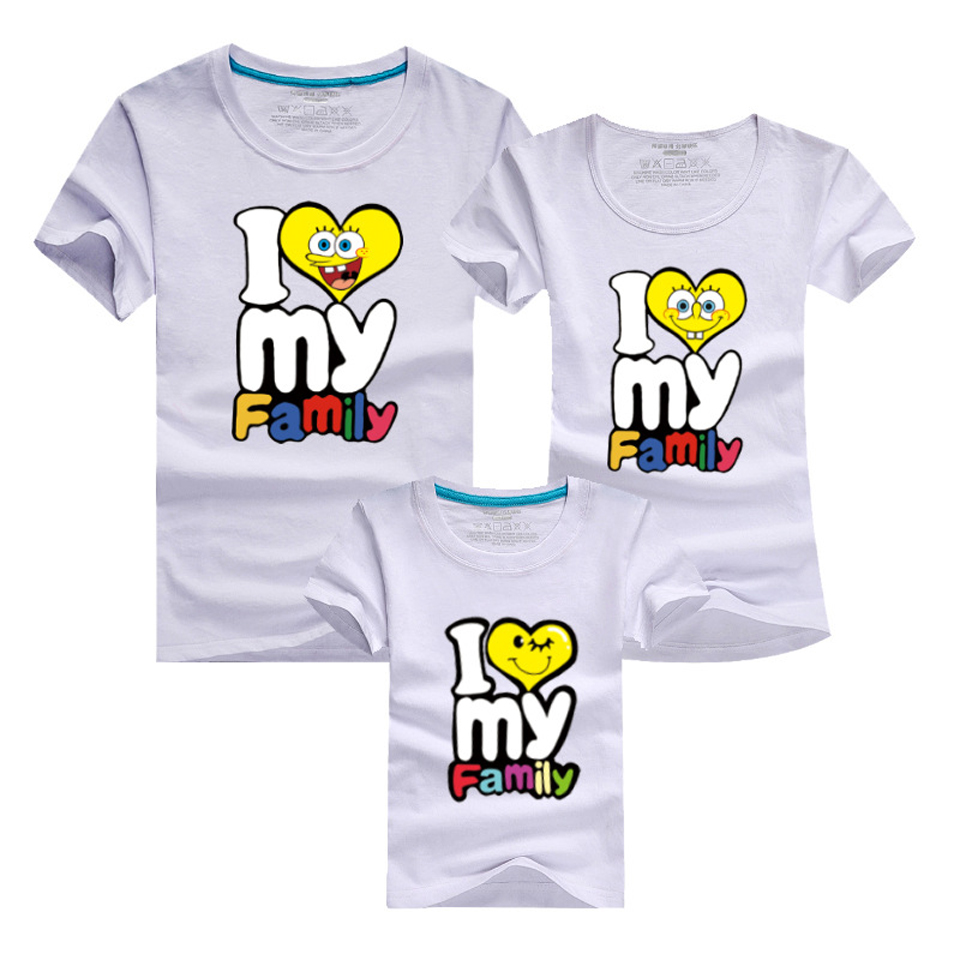 2018 New Family Look Solid T Shirts 11 Colors Summer Family Matching