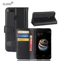 KLAIDO Genuine Cow Leather Case For Xiaomi Mi A1 Case For Xiaomi Mi 5X Case Luxury