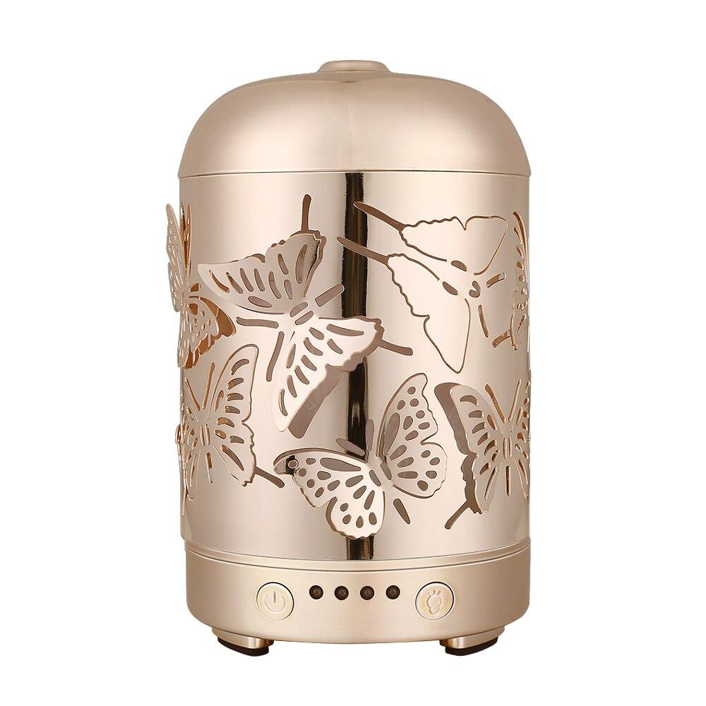 COOSA Metallo Ad Ultrasuoni Umidificatore Aromaterapia Olio Essenziale difusor de aroma Portatile Mist Maker 7 LED luci Mutevoli