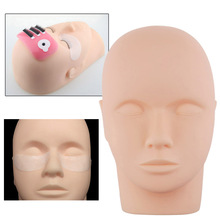 Eyelash Grafted Training Tool Mannequin Head Canvas Block Display Manikin Grafting For Eyelashes Extension