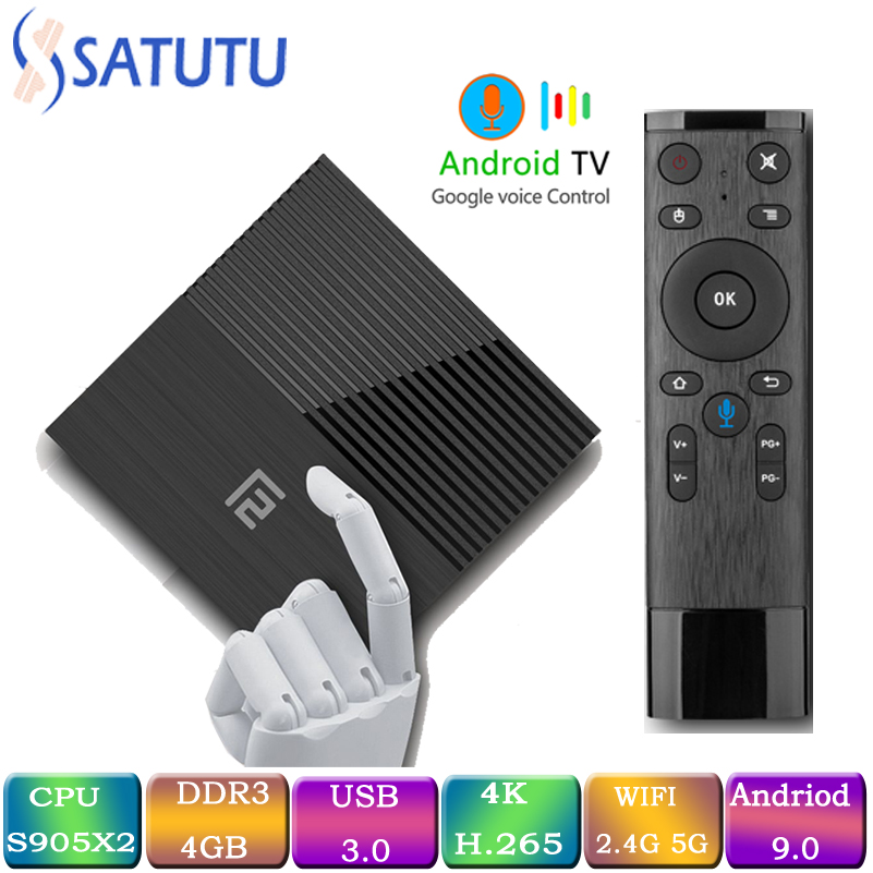 Image 1 - A95x F2 Smart TV Box Android 9.0 Mi ni Tv Box S905 x2 4G 64G 4k Quad Core Set Top Box Media Player Support IPTV PK X96 MAX HK1MI-in Set-top Boxes from Consumer Electronics