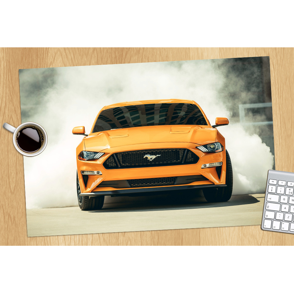 Ford Mustang Muscle Car Posters Wall Art Canvas Painting Decoration 24X36inch