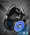 3D Surround Vibración Luz LED con Micrófono Auriculares Para Juegos Juego Profesional Hifi Cancelación de Ruido Auricular SADES A9