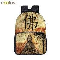 Siddhartha Gautama Buddha Backpack For Teenage Children School Bags Inner Peace Buddhism Dhyana Women Men Travel Bags Backpack