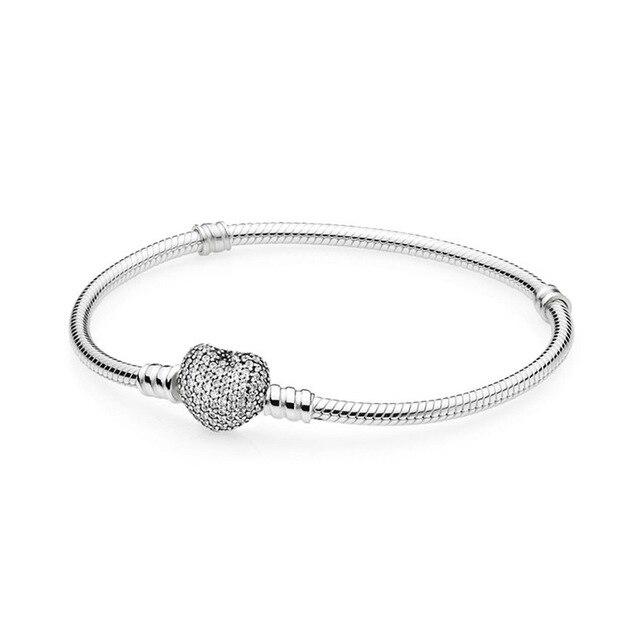 Kristie 100% 925 argent Sterling 1:1 Original authentique 590727CZ charme basique Bracelet adapté bricolage perlé femmes bijoux