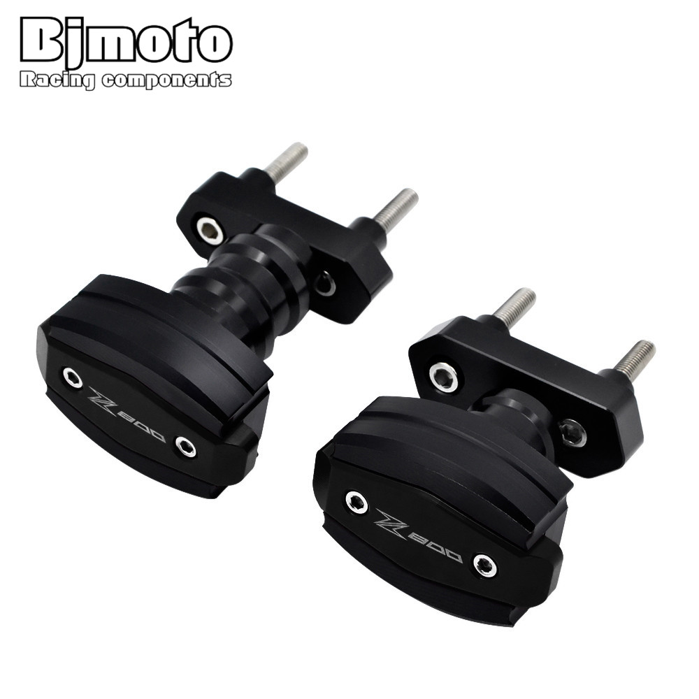 Bjmoto For Kawasaki Z800 2013 2014 2015 2016 Motorcycle motorbike CNC Aluminum Left Right Frame Slider Anti Crash protector cnc motorcycle motorbike folding handle brake clutch levers for kawasaki z800 z 800 e version 2013 2014 2015 2016 2017