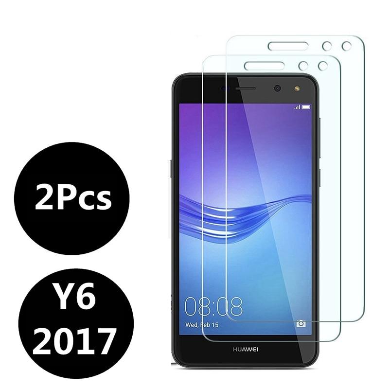 2 pièces verre trempé Huawei Y6 2017 protecteur d'écran Huawei Y6 2017 protecteur d'écran Film de protection en verre pelicula de vidro