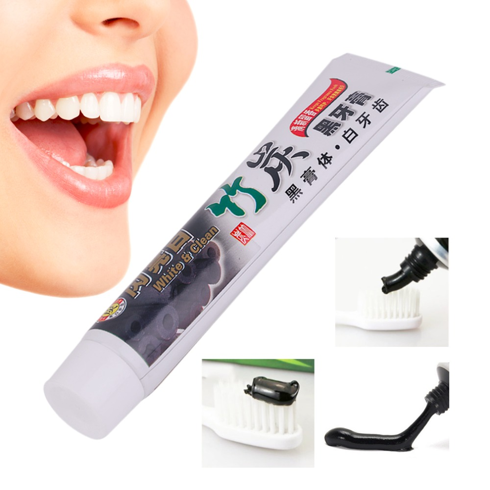 New 100G Teeth Whitening Oral Hygiene Bamboo Charcoal Toothpaste Universal Home Black Toothpaste Teeth Oral Care Accessory