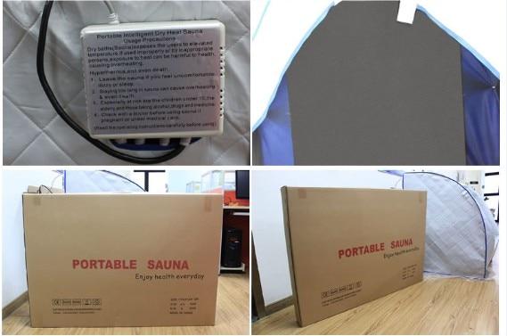 Portable Far Infrared Sauna Personal Folding Home Sauna Spa Dry Portable  Sauna Bath Carbon fiber plate heating Lose Weight