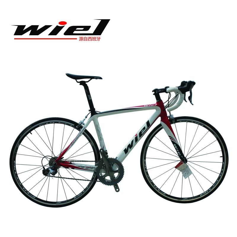 WIEL Challenge 700C vélo de route cadre en Fiber de carbone/fourche vélo vélo 20 vitesses SHIMANO TIAGRA 4700 groupe Set roues Flcrum-R7