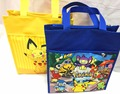 Pokemon Pikachu Canvas Kids Handbag Cup Study Book Bag Shopping Lunch Zipper  School Tote Bag Gift