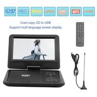 EU Plug 9 inch Portable DVD Player TFT LCD Screen 270 Degree Rotation Infrared Remote Control Mobile DVD Monitor Player MP4 MP5
