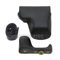 Black New Camera PU Leather Case Cover Bag + Shoulder Strap for S&ny A5000 NEX-3N NEX 3N 16-50mm Lens