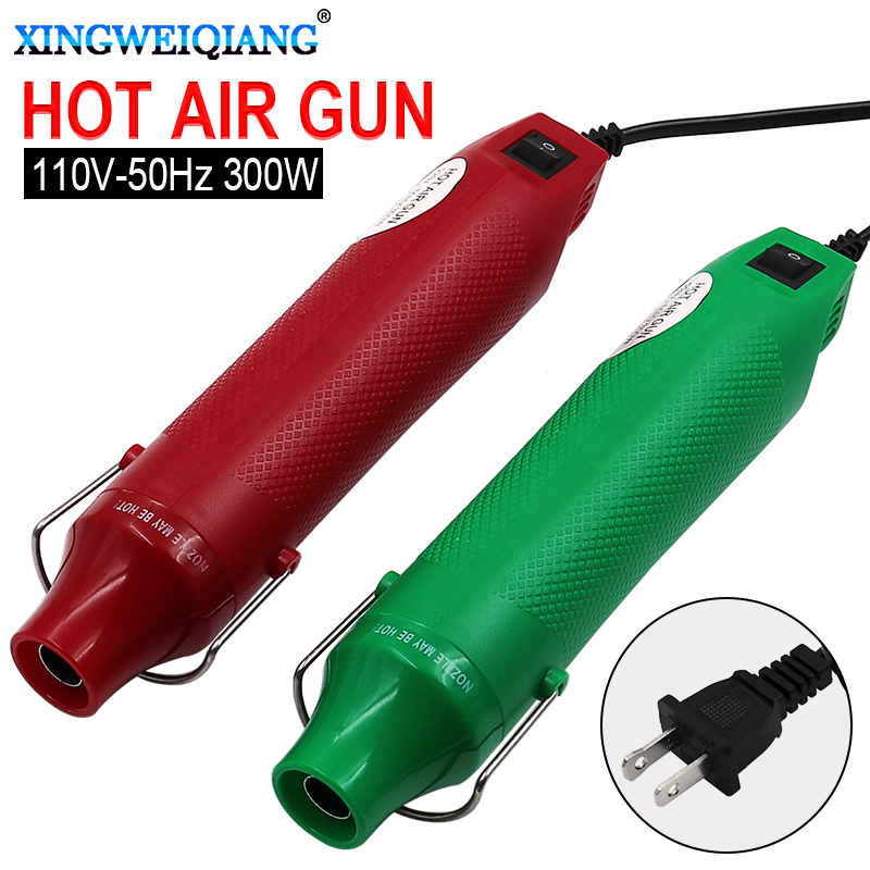 110V DIY Using Heat Gun Electric Power Tool Hot Air 300W Temperature Gun With Supporting Seat Shrink Plastic DIY Hand Tool
