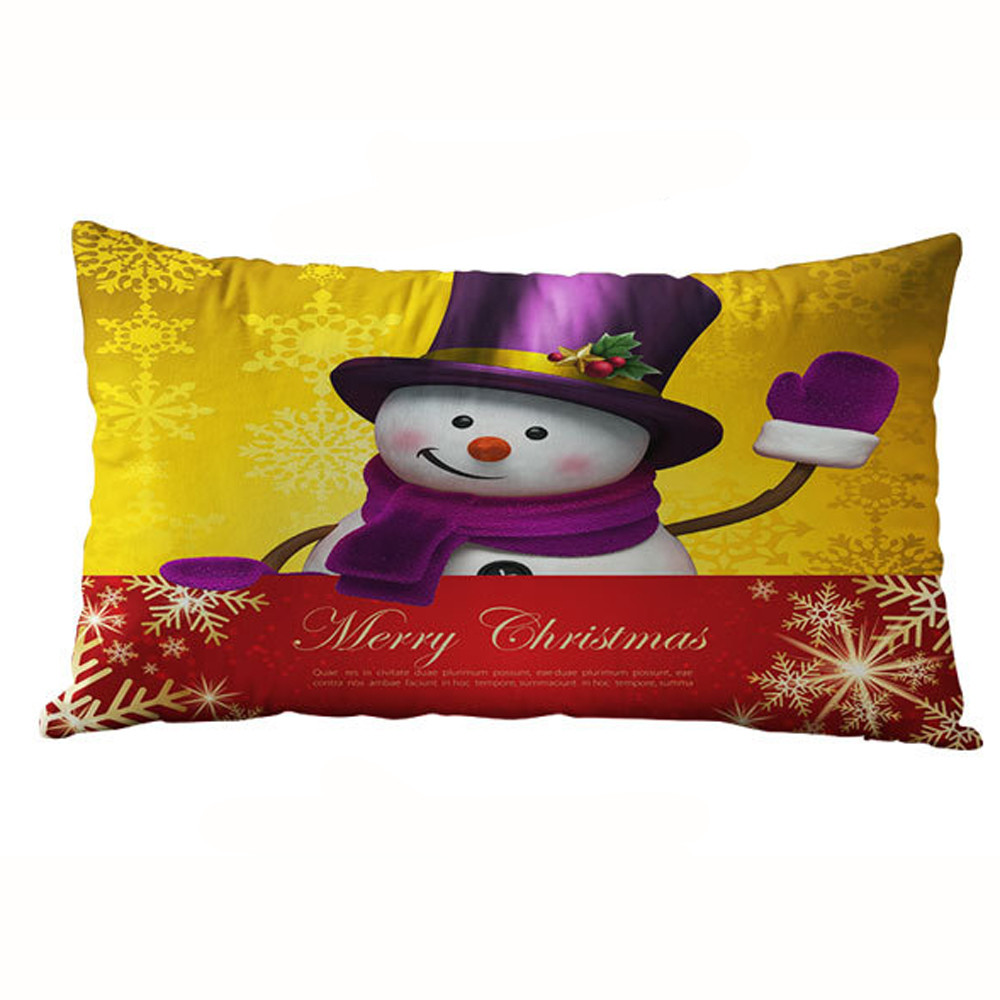 30 50cm christmas rectangle cotton linter pillow cases cushion covers funda cojin housse de. Black Bedroom Furniture Sets. Home Design Ideas