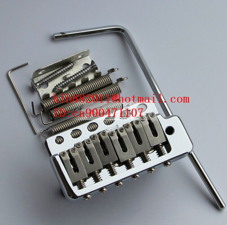 new single wave electric guitar bridge in chrome WVP6 L25 niko 50pcs chrome single coil pickup screws