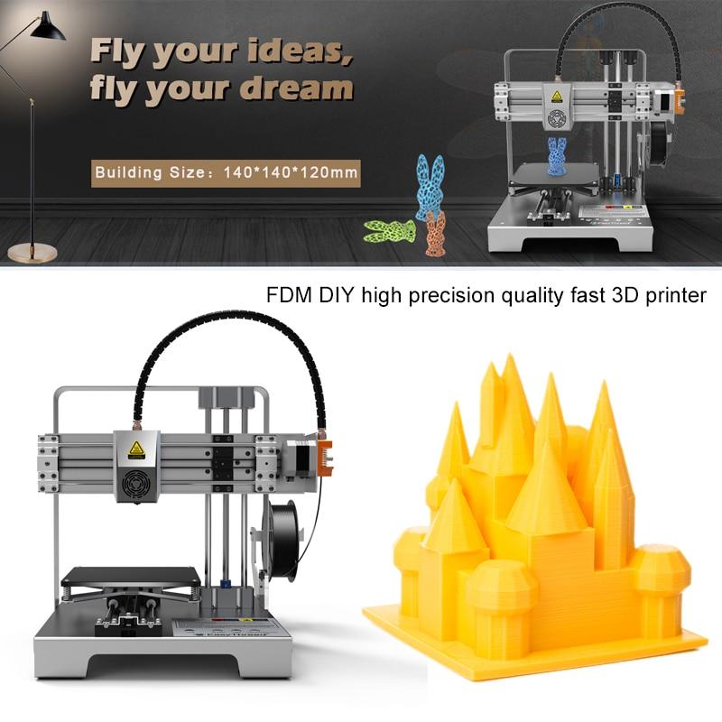Easythreed 3D Printer Fully ABS Metal Enclosed Frame 3D Printer 10-100MM/S Print Size 140*140*120mm 3D DIY Printer HouseholdEasythreed 3D Printer Fully ABS Metal Enclosed Frame 3D Printer 10-100MM/S Print Size 140*140*120mm 3D DIY Printer Household