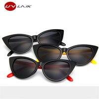 UVLAIK Brand Designer Cat Eye Women Sunglasses Female Gradient Points Sun Glasses UV400 Goggles