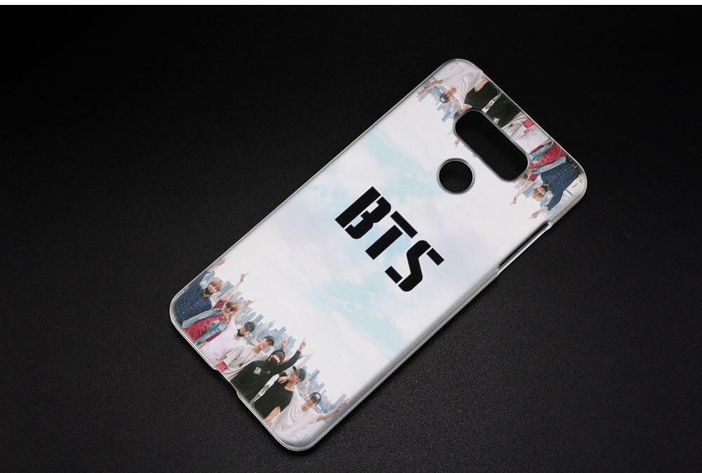 BINYEAE bts bangtan boys Hard Clear Case Cover for LG Q6 G6 Mini G5 SE G4 G3 V10 V20 V30