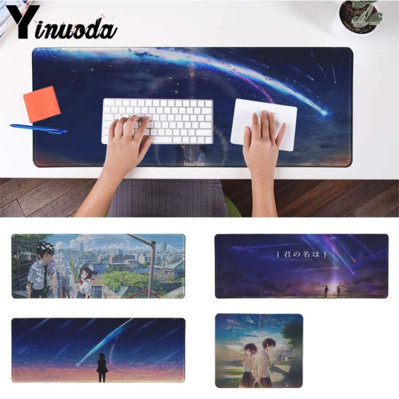 Yinuoda your name Laptop Gaming Mice Mousepad Size for 30x90cm and 40x90cm Gaming Mousepads