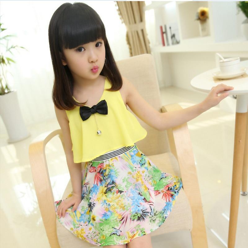 c8d0d0c05e1b 2017 new summer style 3 13 age girls fashion floral chiffon princess ...
