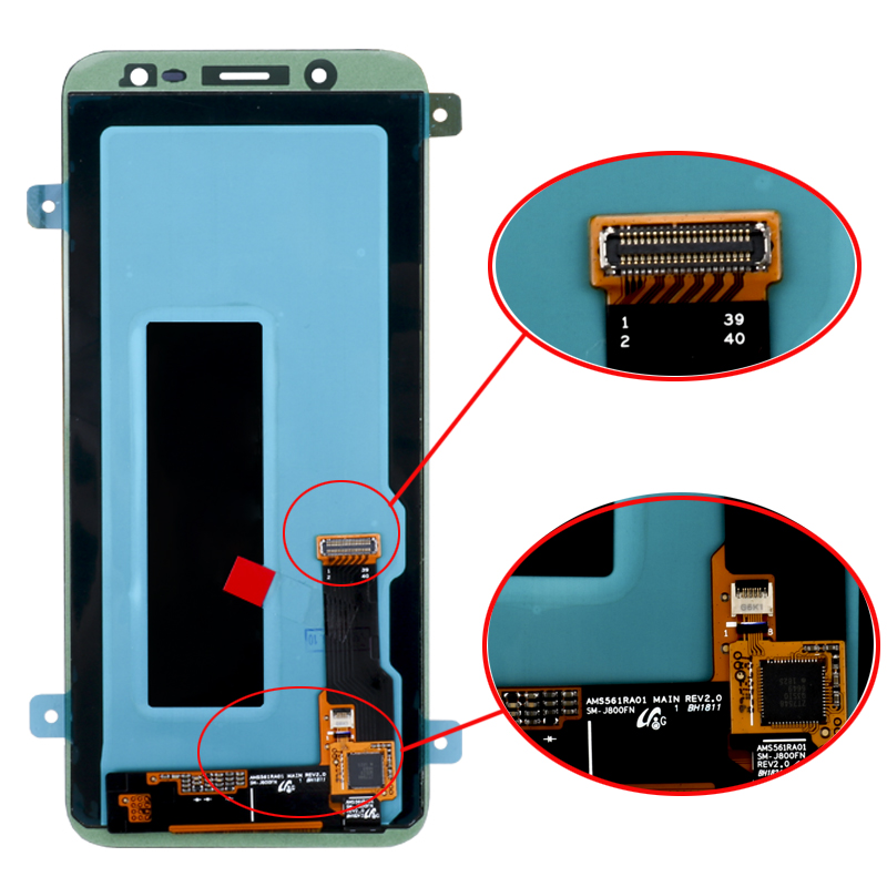 HTB1Du6pX5LrK1Rjy1zdq6ynnpXao 100% Original 5.6'' Super AMOLED LCD For Samsung Galaxy J6 2018 J600F J600 Display With Touch Screen Assembly Replacement Parts