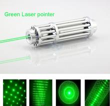 Discount! High Power Green Laser Pointer Pen 532nm 50000mw focus burning matches Military Zoomable Burning Beam +5 laser heads
