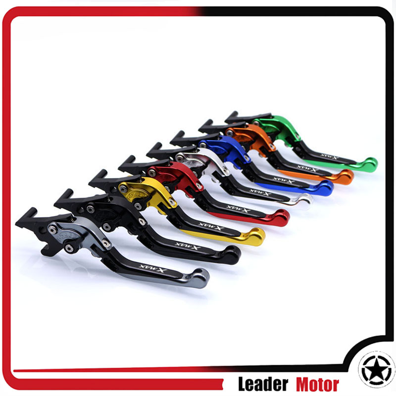 все цены на For YAMAHA XMAX 250 XMAX300 XMAX400 XMAX 400 X-MAX 250 300 400 2017 scooter accessories folding extendable brake levers онлайн