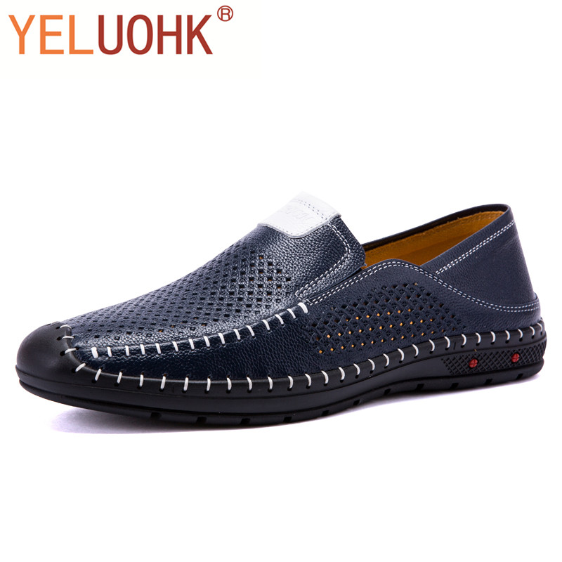 Genuine Leather Men Shoes Casual Breathable Men Loafers Handmade Moccasins Men Driving Shoes High Quality new stereo headset bluetooth earphone headphone mini v4 0 wireless handsfree universal for all smart phone iphone samsung