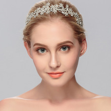 купить Addy store wedding tiara rose crown women's jewel hair accessories retro princess crown bridal jewelry headband по цене 790.04 рублей