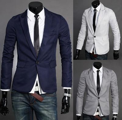 e94d00393c6 Мода сельма Fit стильные мужские костюмы V шеи одна кнопка блейзер костюм  бизнес куртки пальто сша размер XS sml купить на AliExpress