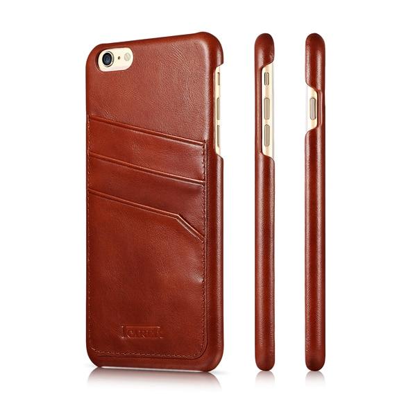 ICARER Business Style Vintage Husă din piele originală din piele - Accesorii și piese pentru telefoane mobile