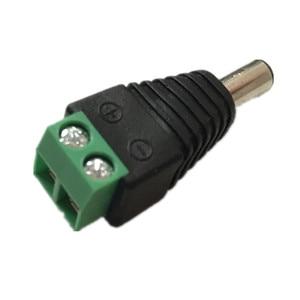 Image 3 - 10 Pcs CCTV Cameras 2.1mm x 5.5mm Female Male DC Power Plug Adapter For 5050 3528 5630 5730 Single Color LED Strip Light