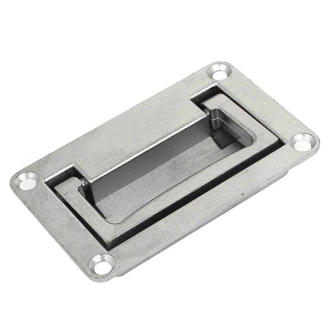 LHLL-9.5cm x 6cm Metal Rectangle Shaped Recessed Folding Pull Handle Grip
