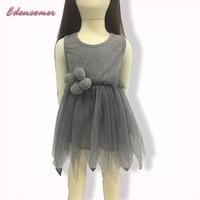 Kids Girls Summer Party Dresses 2016 New Children Irregular Toddler Elsa Anna Cinderella Princess Dress For