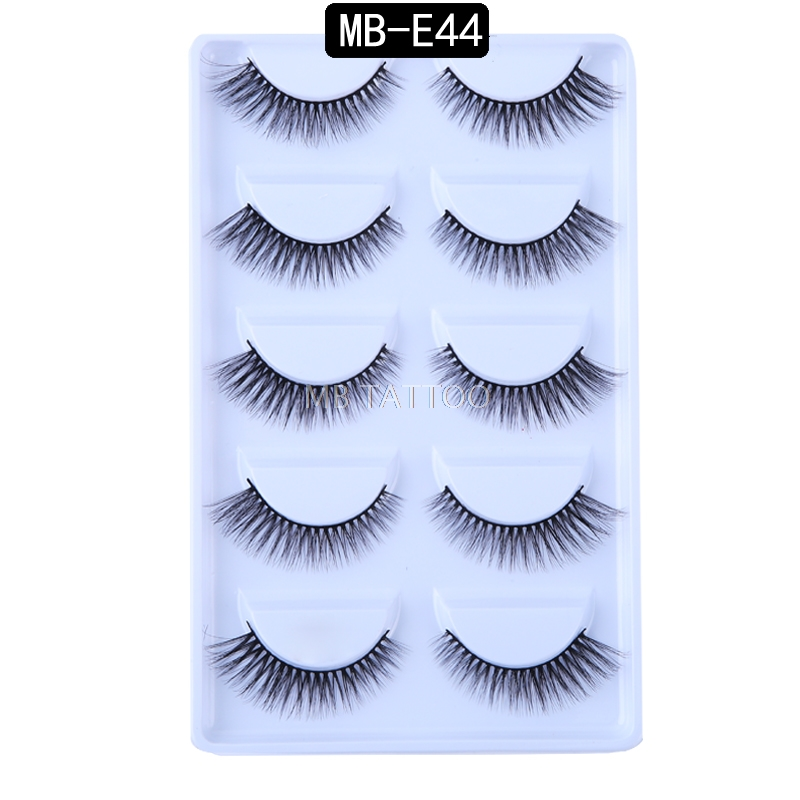 HTB1Du7RQ7voK1RjSZFDq6xY3pXa4 New 3D 5 Pairs Mink Eyelashes extension make up natural Long false eyelashes fake eye Lashes mink Makeup wholesale Lashes