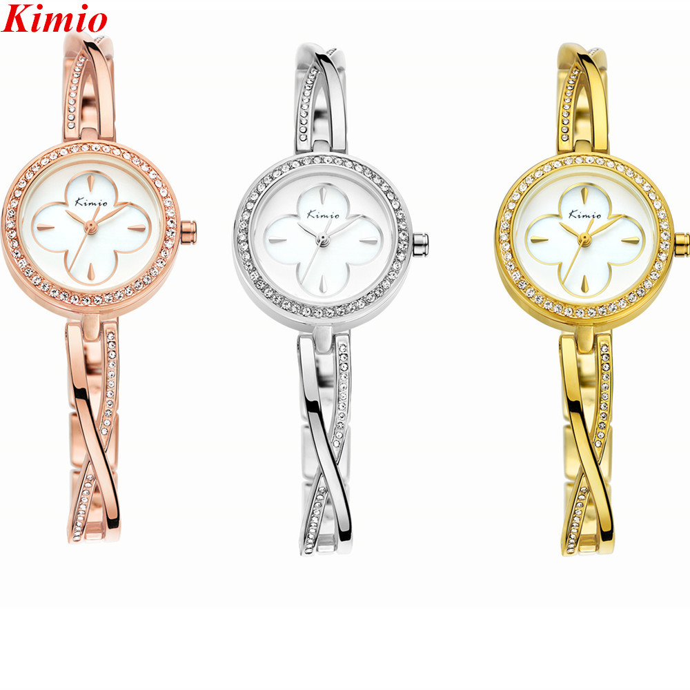 ФОТО Kimio Fashion women watches luxury brand watches Women Dress Elegant watch Full Stainless Steel water resistant Rose gold watch