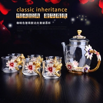Drinkware The tea cup teapot set master cup personal heat resistant glass teacups