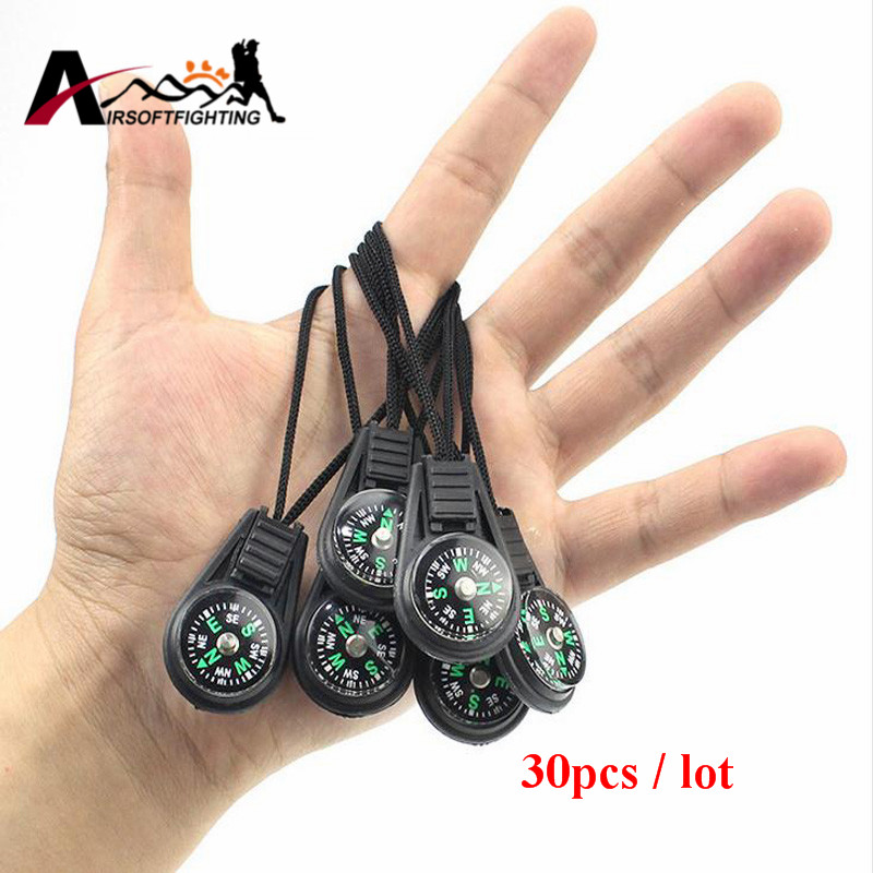 30pcs Key Chain Mini Compass Portable Camping Hiking Hiker Mini Pocket Navigator Compass Outdoor Sports Keychain Tool mini kompas sleutelhanger