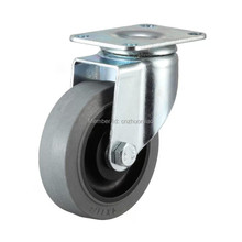 1 pz 4 inch zhuomiao casters ESD caster wheel gray TPR material