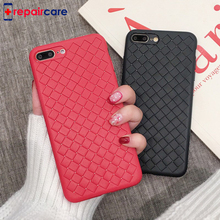 Luxury Ultra Thin Slim Back Woven pattern for iPhone 8 7 6 6s Plus X For samsung S9 huawei P20 Soft TPU Cooling Case